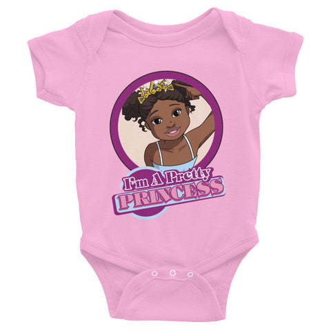 """I'm a Pretty Princess"" Infant Baby Rib Bodysuit 6M-24M"