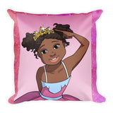 """I'm a Pretty Princess"" Pillow - Brown Girls Club - 1"