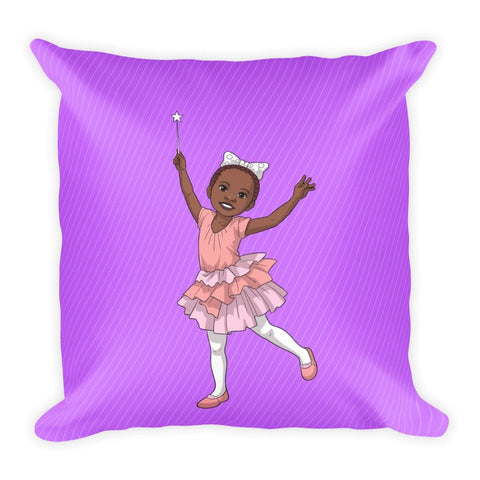 """I'm A Pretty Black Ballerina"" Pillow - Brown Girls Club - 1"