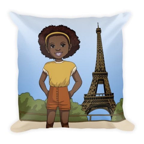 """Brown Girl in Paris"" Pillow - Brown Girls Club - 1"