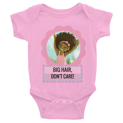 """Big Hair, Don't Care"" Infant Baby Rib Bodysuit 6M-24M"