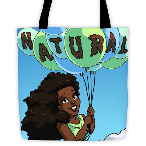"""Naturally Me"" Tote Bag - Brown Girls Club"