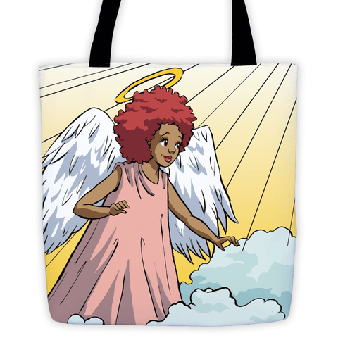 """Guardian Angel"" Tote Bag - Brown Girls Club"