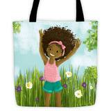 """Big Hair, Don't Care"" Tote Bag - Brown Girls Club - 1"