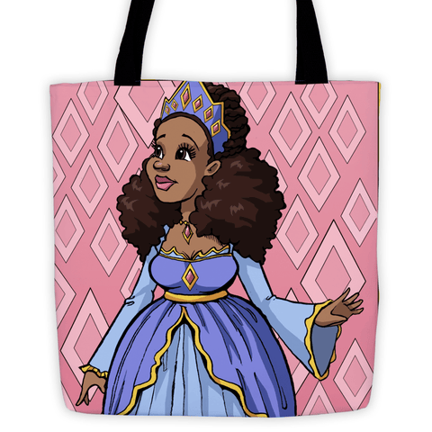 Black Princess in Pink Tote Bag - Brown Girls Club