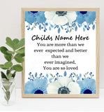 Personalized Baby Name Poem Print