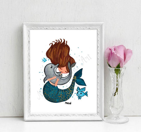 Hugs for my Bud Art Print