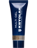 Kryolan, Multi Gel Glitter, Light Bronze 10ml