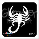 Glimmer body art, Scorpion (027)