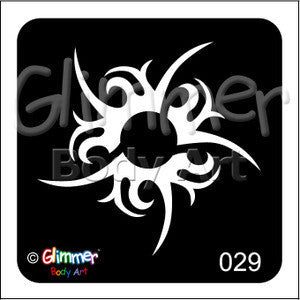 Glimmer Body Art, Tribal Swirl (29)