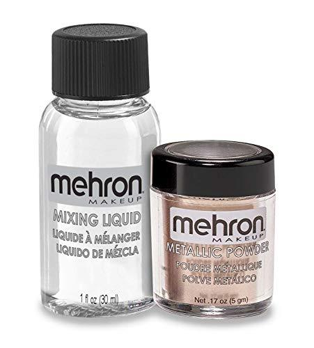 Mehron, Metallic Powder & Liquid, Rose Gold
