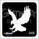 Glimmer body art, Eagle Claw (045)