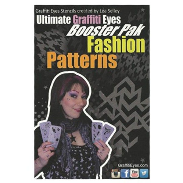 Graffiti Eye Stencil, Fashion Patterns