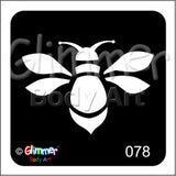 Glimmer body art, Bumble Bee (78)
