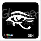 Glimmer body art, Eye (084)