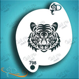 Diva Stencils, Tiger Face Tribal