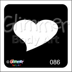 Glimmer Body Art, Single Heart (86)