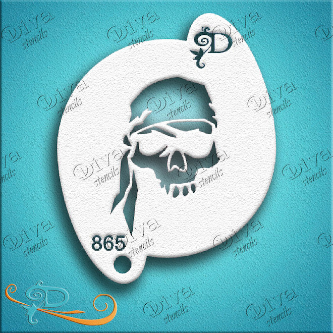 Diva Stencils, Pirate Skull-Headband