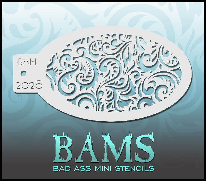 Bam's 2028, Decorative Swirls