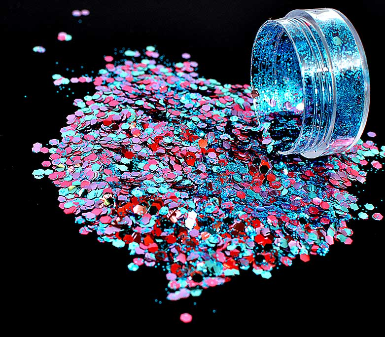 Bio Glitter, Blends, Mermaid, 15g