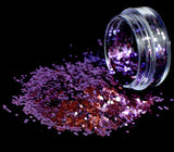 Bio-Glitter, Large Chunky, Violet, 5g