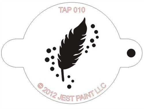 Tap Stencil, Feather (010)