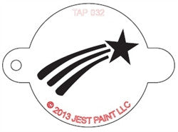 Tap Stencil, Shooting Star (032)