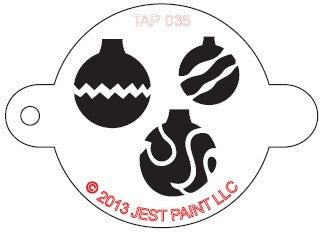 Tap Stencil, Christmas Ornament (035)