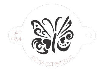Tap Stencil, Ornate Butterfly