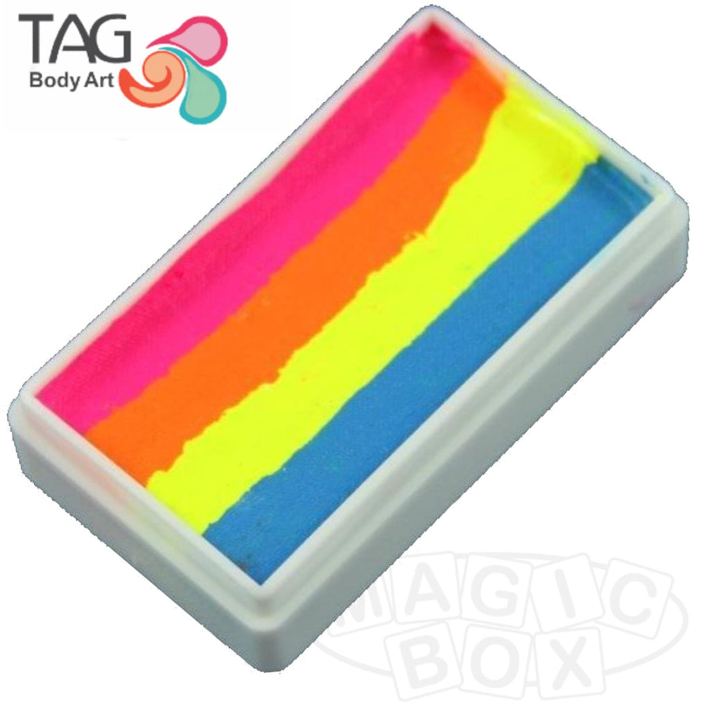 Tag, Neon 1 Stroke Split Cake, Cocktail