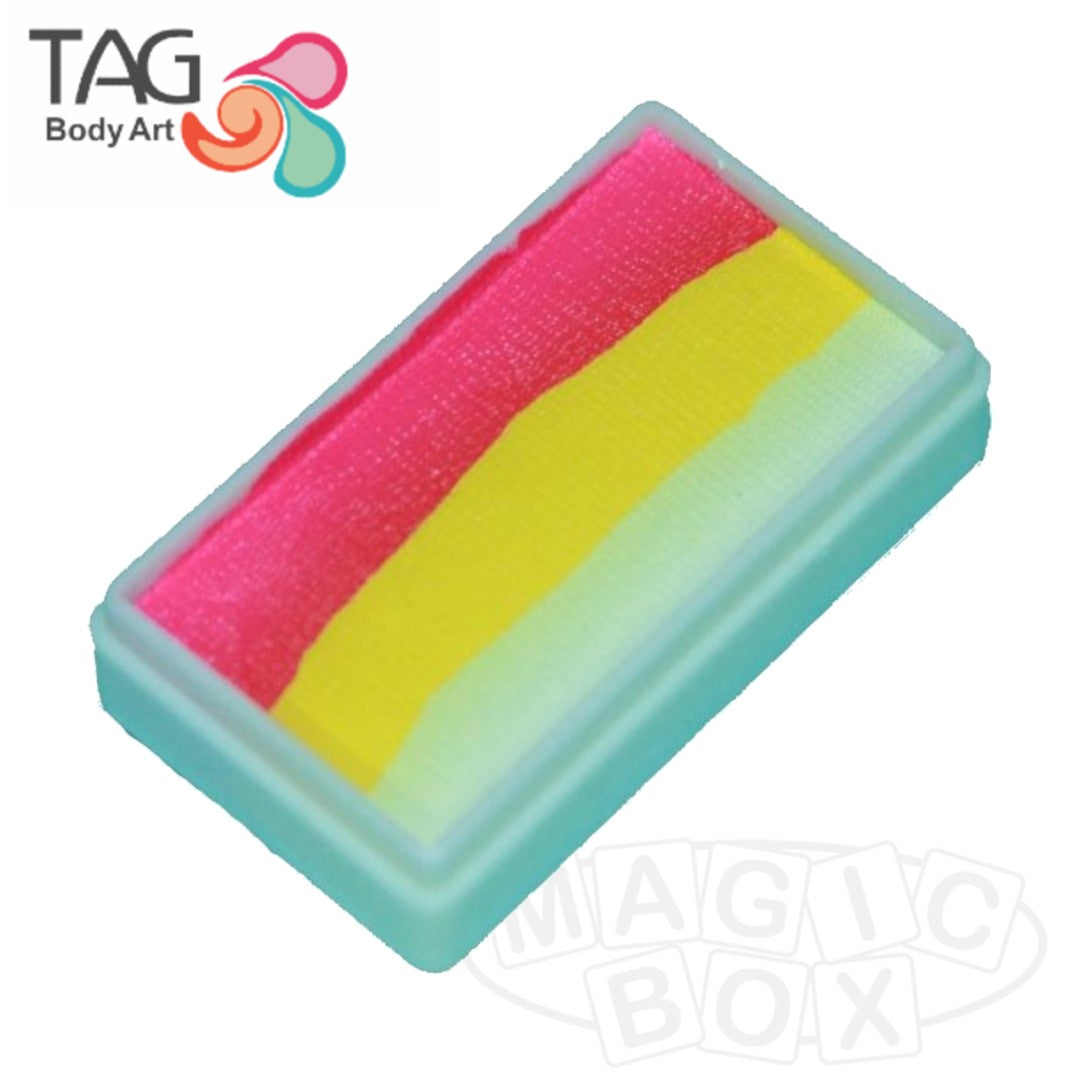 Tag, Neon 1 Stroke Split Cake, Tropical