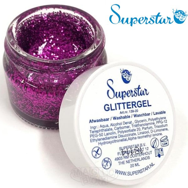 Superstar Gel Glitter, Purple