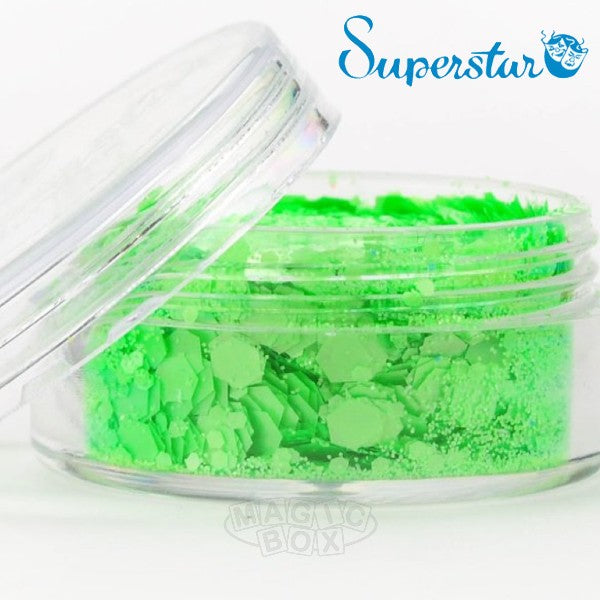 Chunky Mix Glitter, Fluorescent Green