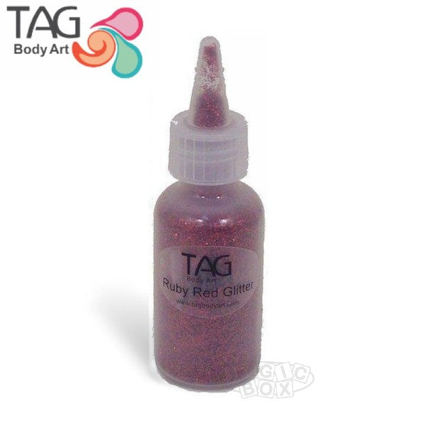 Tag Glitter, 15ml Ruby Red