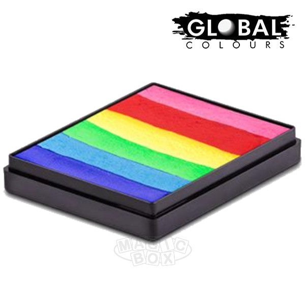 Global 50g Rainbow Cake, Bright Rainbow