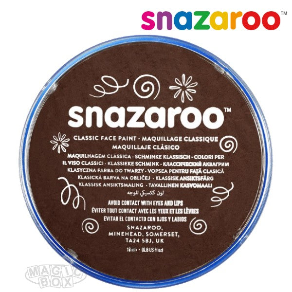 Snazaroo, 18ml Brown Dark