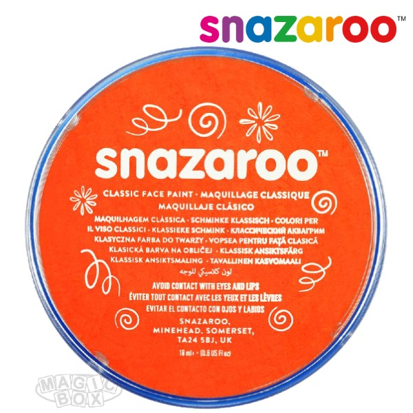 Snazaroo, 18ml Orange Dark