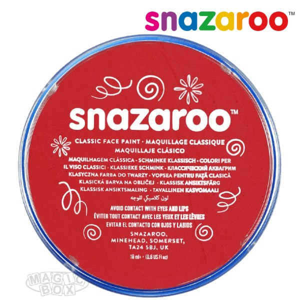 Snazaroo, 18ml Red Bright