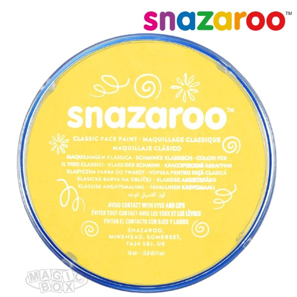 Snazaroo, 18ml Yellow Bright