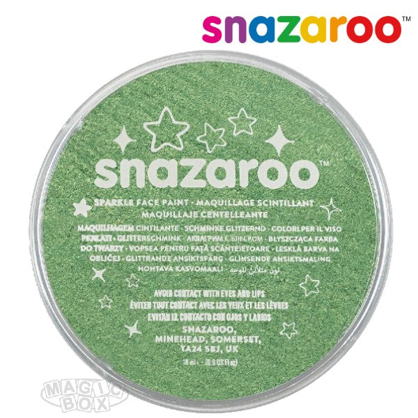 Snazaroo 18ml Sparkle Pale Green