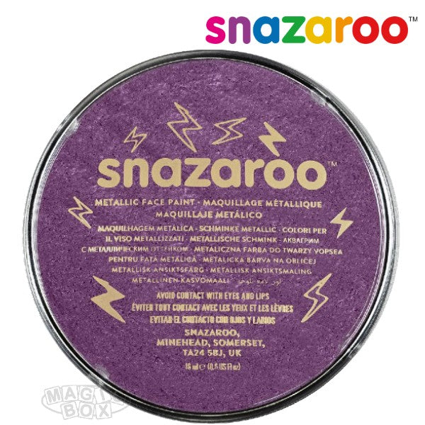 Snazaroo 18ml Metallic Electric Purple