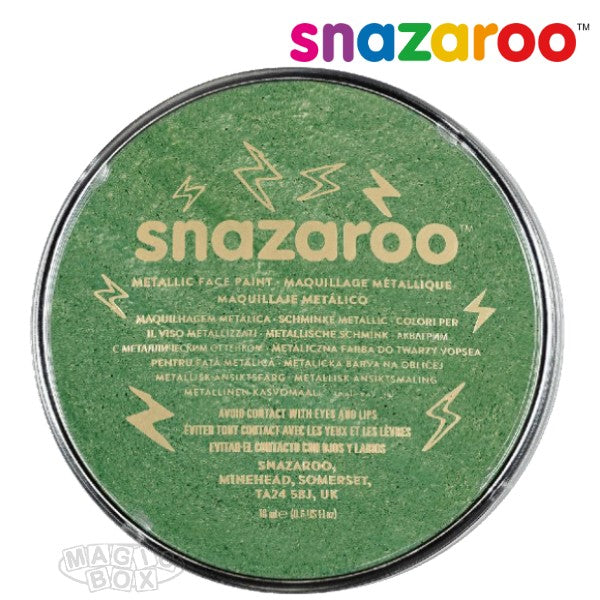 Snazaroo 18ml Metallic Electric Green