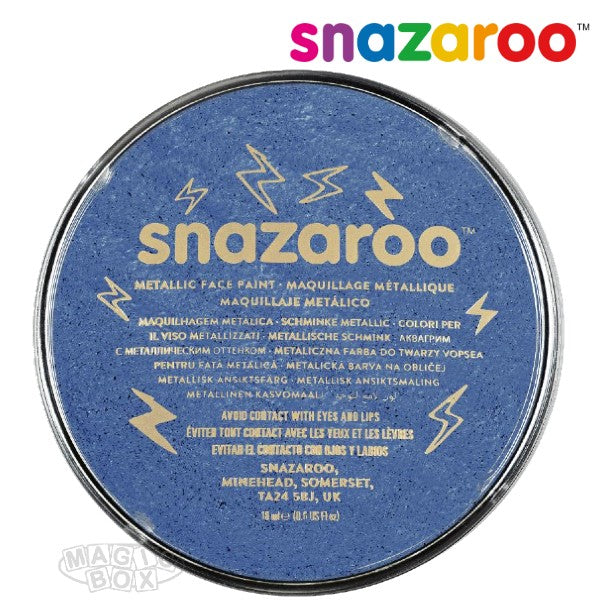 Snazaroo 18ml Metallic Electric Blue