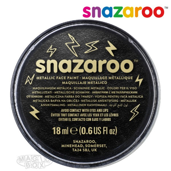 Snazaroo 18ml Metallic Black