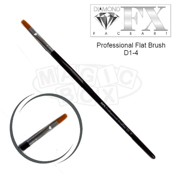 DFX Professional Flat Brush D1-4