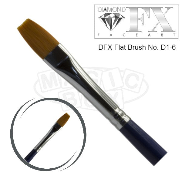 DFX Professional Flat Brush D1-6