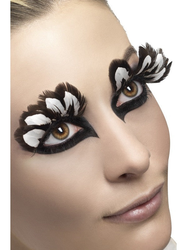 Fever, Eyelashes, Brown and White Feather