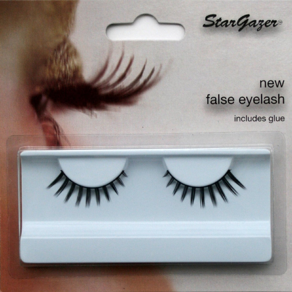 Eyelashes Feathered, Short Thick Black