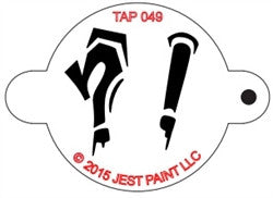 Tap Stencil, Graffiti Punctuation (049)