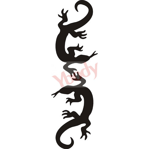 Tattoo Stencil, Lizard Duo